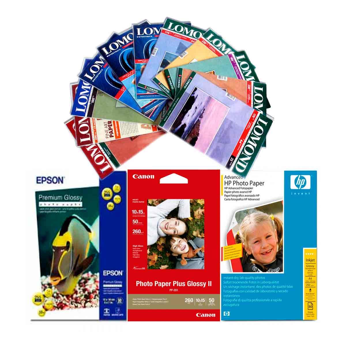 Этикетки самоклеящиеся для печати / фотобумага