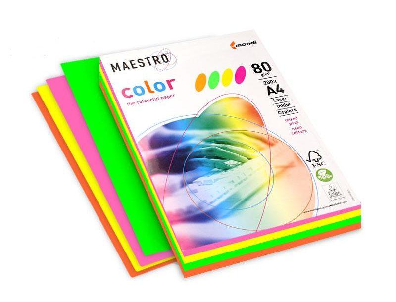 Бумага цветная a4 neon